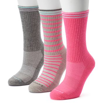 Women's Free Country 3-pk. Marled Stripe Wool-Blend Crew Socks