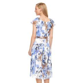 Women's Perceptions Floral A-Line Dress