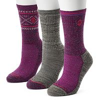 Women's Free Country 3-pk. Tribal Marled Wool-Blend Hiking Socks