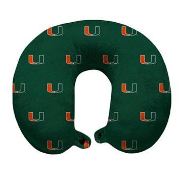 Miami Hurricanes Travel Pillow
