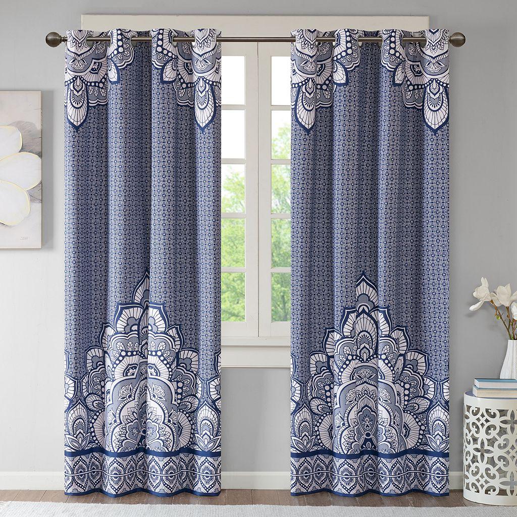 Intelligent Design Simone Printed Blackout Window Curtain