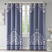 Intelligent Design Simone Printed Blackout Window Curtain