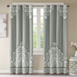 Intelligent Design Blackout 1-Panel Simone Printed Window Curtain