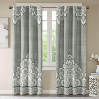 Intelligent Design Blackout 1-Panel Simone Printed Window Curtain