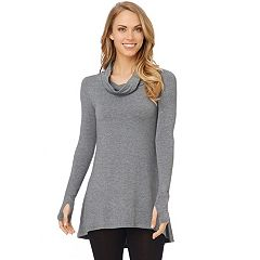 Plus Size Cuddl Duds Softwear Cowlneck Tunic Top