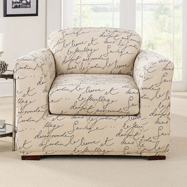Sure Fit 2 Piece Waverly Stretch Pen, Sure Fit Slipcovers Chair