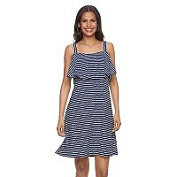 Women's Bethany Striped Flounce Shift Dress