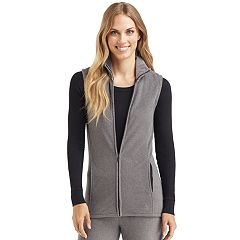 Plus Size Cuddl Duds Full Zip Fleece Vest