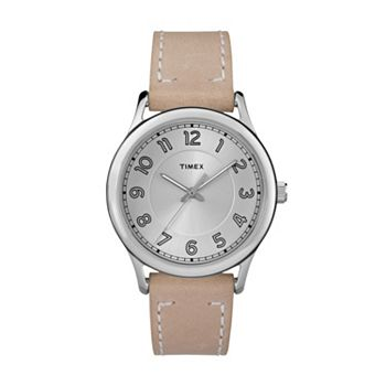 Timex women 39 s new england leather watch tw2r23200jt for Watches kohls
