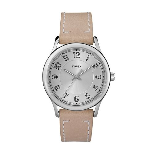 Timex Women's New England Leather Watch - TW2R23200JT