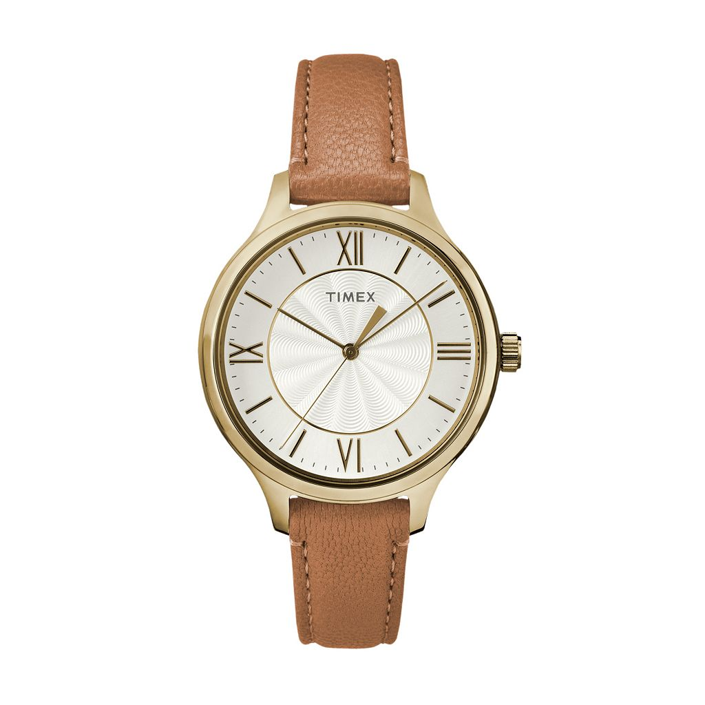 Timex Women's Peyton Leather Watch - TW2R27900JT