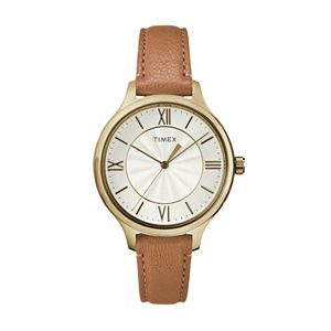 Timex Women's Peyton Leather Watch - TW2R27900JT