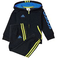 Baby Boy adidas Graphic Hooded Jacket & Pants Set