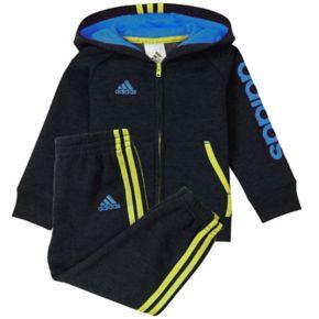Baby Boy adidas Graphic Hooded Jacket & Pants Set
