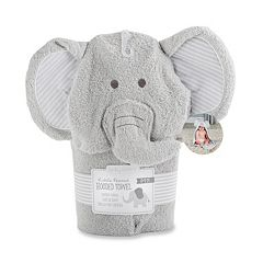 Baby Aspen Little Peanut Elephant Hooded Terry Towel