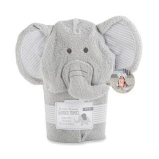 Baby Aspen Little Peanut Elephant Hooded Terry Towel