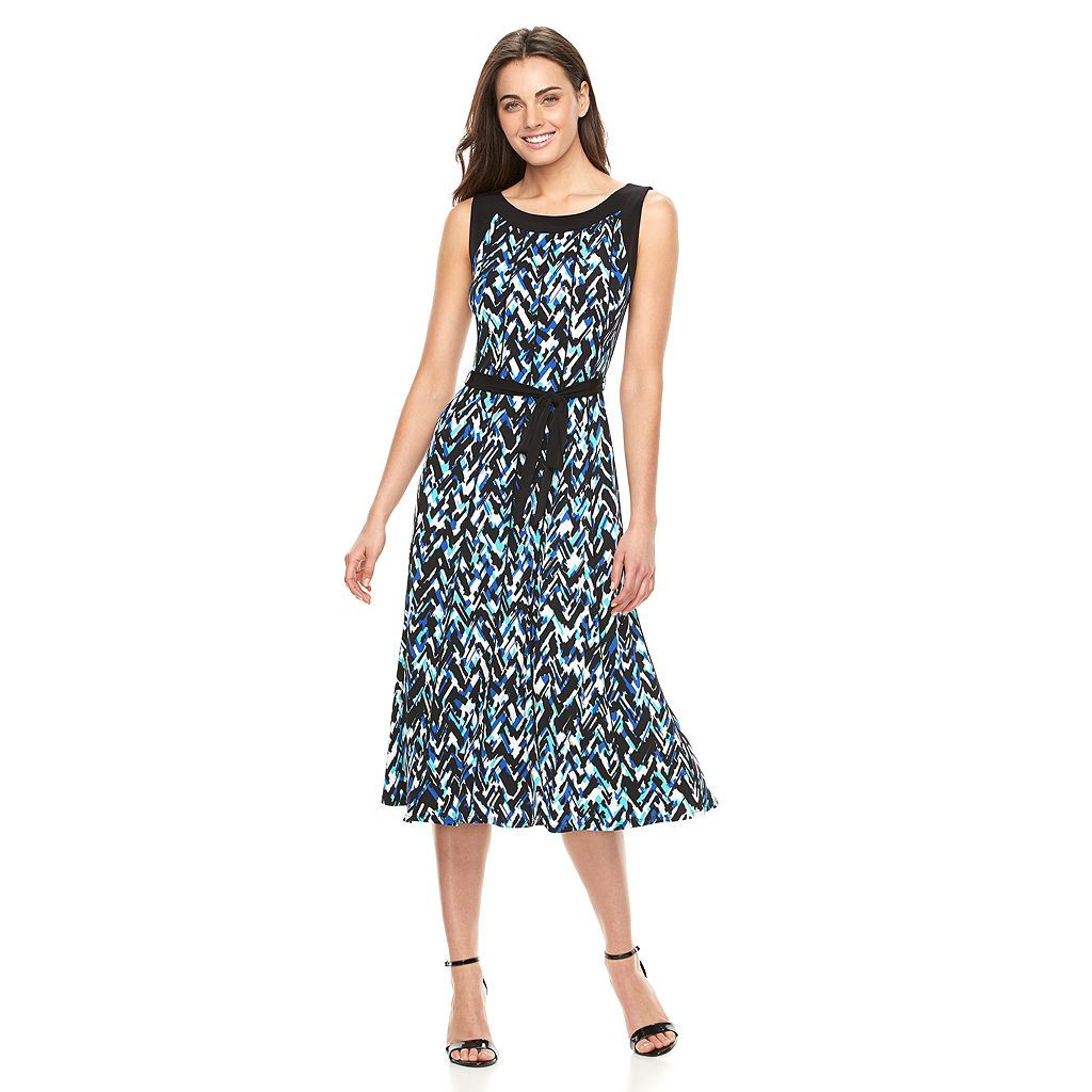 Women's Perceptions Abstract A-Line Midi Dress