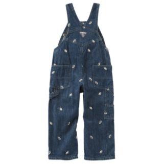 Baby Boy OshKosh B'gosh® Embroidered Football Denim Overalls