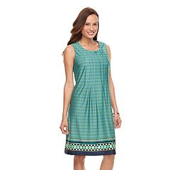 Women's Perceptions Print Shift Dress