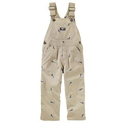 Baby Boy OshKosh B'gosh® Embroidered Lizard Overalls