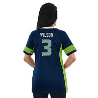Women's Majestic Seattle Seahawks Russell Wilson Draft Him Fashion Top