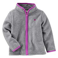 Toddler Girl OshKosh B'gosh® Gray Fleece Zip Front Jacket