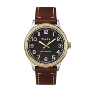 Timex Men's New England Two Tone Leather Watch - TW2R22900JT