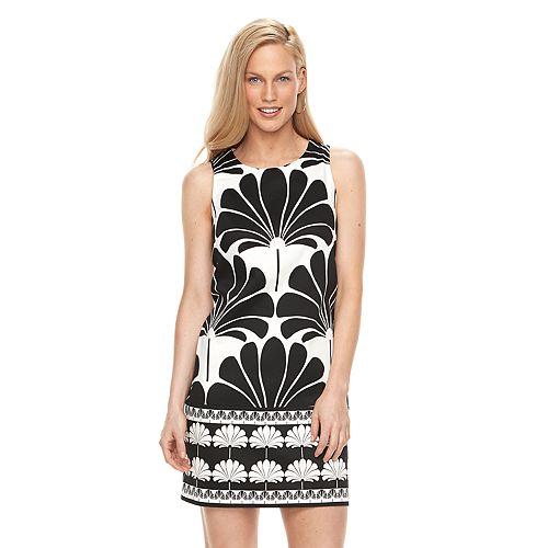 Women's Suite 7 Palm Print Shift Dress