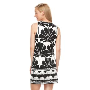 Women's Suite 7 Palm Print Shift Dress