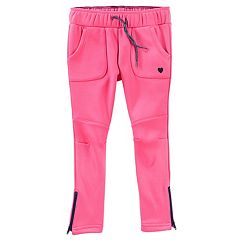 Toddler Girl OshKosh B'gosh® Tricot Fleece-Lined Pink Pants