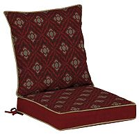 Bombay® Outdoors Geo Floral Reversible Dining Chair Cushion Set