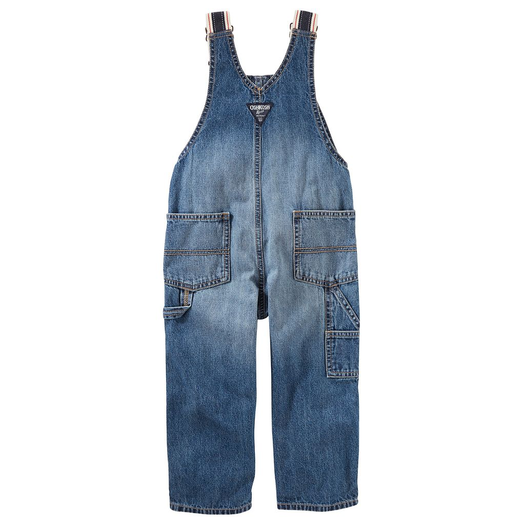 Baby Boy OshKosh B'gosh® Striped Straps Denim Overalls