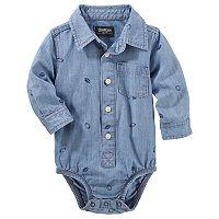 Baby Boy OshKosh B'gosh® Football Chambray Bodysuit