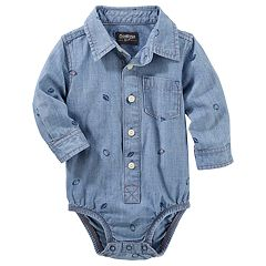 Baby Boy OshKosh B'gosh® Football Chambray Bodysuit
