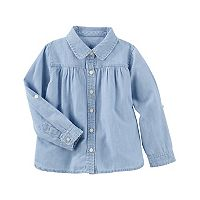 Toddler Girl OshKosh B'gosh® Chambray Button-Front Top