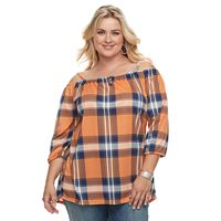 Plus Size French Laundry Off-the-Shoulder Peasant Top
