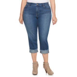 Plus Size Jennifer Lopez Rockin Cuffed Capri Jeans