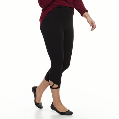 Plus Size French Laundry Cutout Leggings