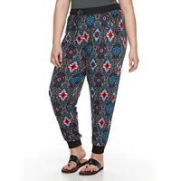 Plus Size French Laundry Printed Jogger Pants