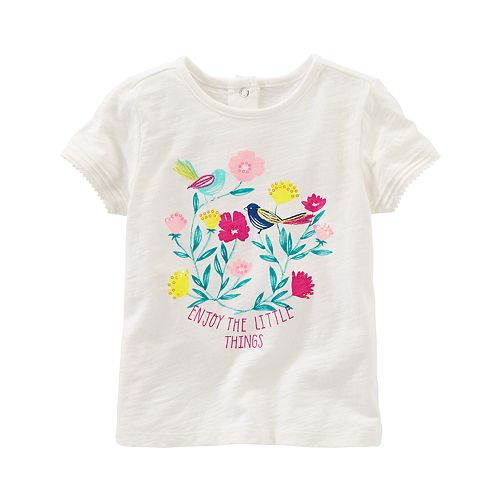"Toddler Girl OshKosh B'gosh® ""Enjoy The Little Things"" Graphic Tee"