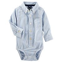 Baby Boy OshKosh B'gosh® Uniform Striped Button Down Bodysuit