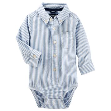 Baby Boy OshKosh B'gosh® Uniform Striped Button Down Bodysuit
