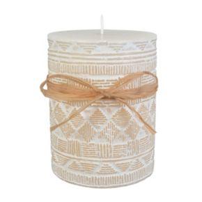 "SONOMA Goods for Life? Sandalwood Cotton 3"" x 4"" Pillar Candle"