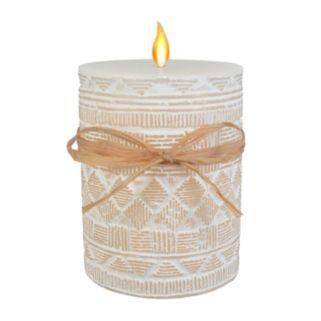 "SONOMA Goods for Life™ Sandalwood Cotton 3"" x 4"" Pillar Candle"