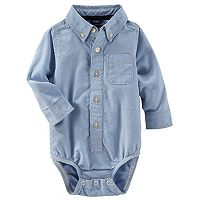Baby Boy OshKosh B'gosh® Uniform Button Down Chambray Bodysuit