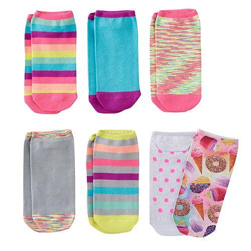 Girls 7-16 6-pk. Sugar Rush No-Show Socks