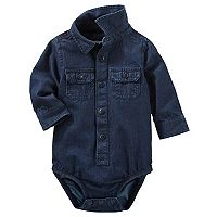Baby Boy OshKosh B'gosh® Basic Denim Button Down Bodysuit