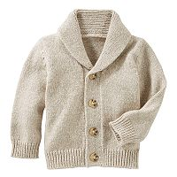 Baby Boy OshKosh B'gosh® Marled Shawl-Collar Cardigan Sweater