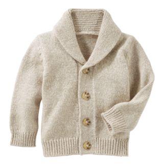 Baby Boy OshKosh B'gosh® Marled Shawl-Collar Cardigan Sweater
