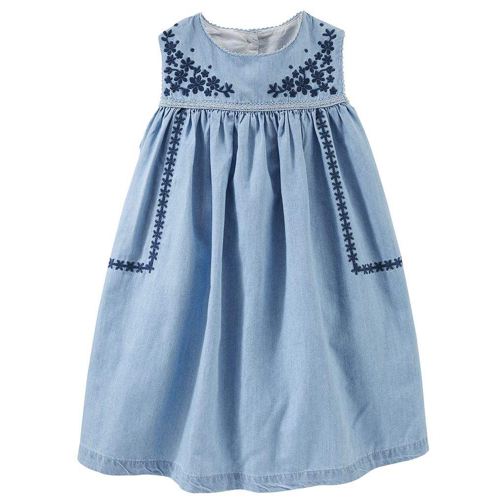 Toddler Girl OshKosh B'gosh® Embroidered Chambray Dress